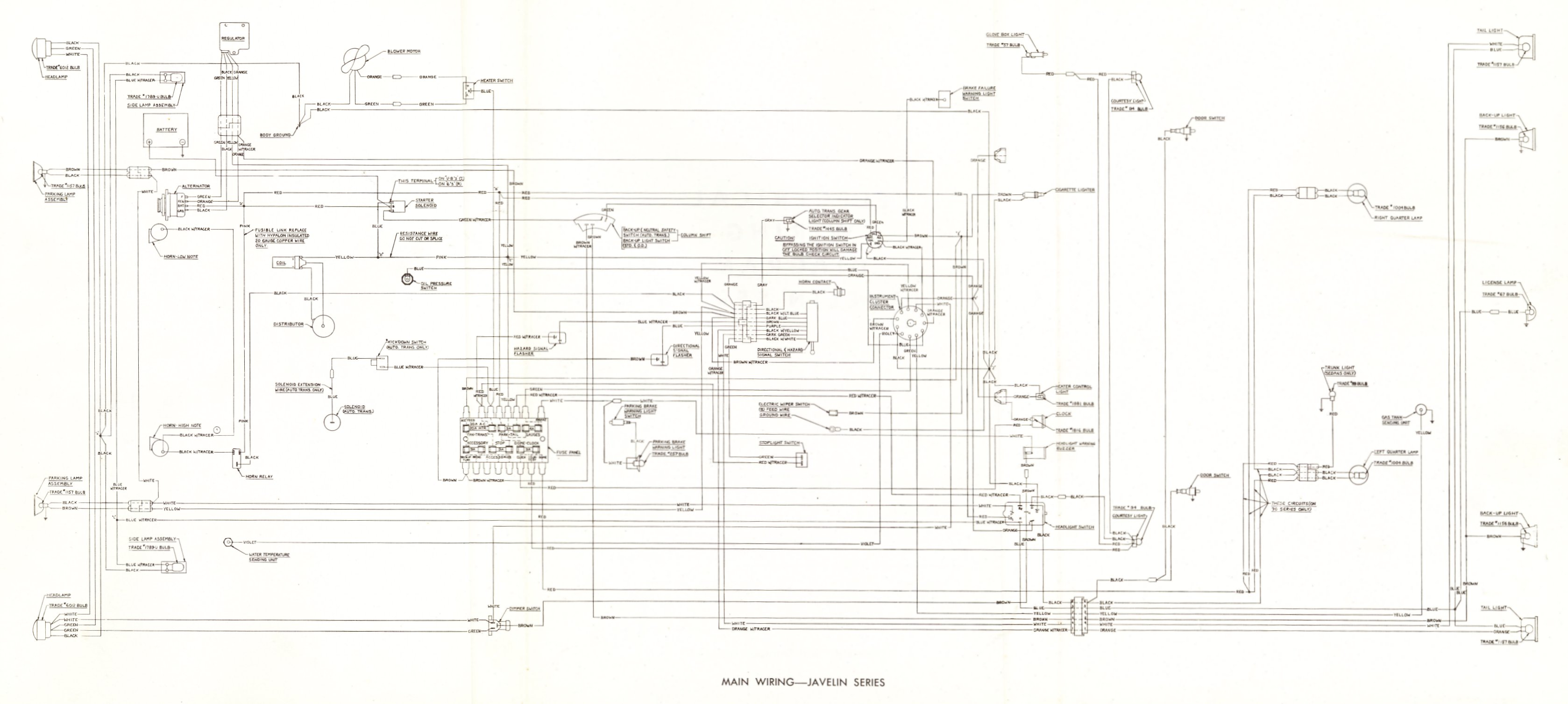technical rh australianjavelins com 1973 amc javelin wiring diagram 1971 amc javelin wiring diagram